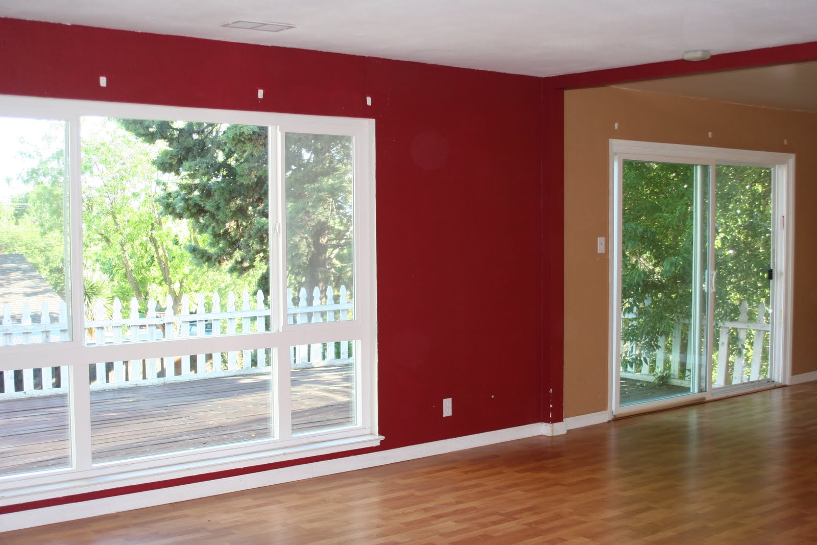 Maroon Living Room Walls