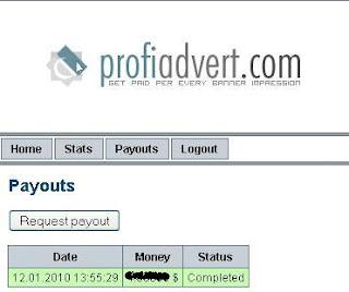 Pembayaran Pertama Profiadvert.com