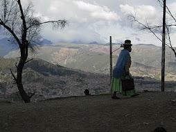 mujer boliviana en la Paz, Bolivia