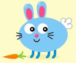 Download Vector: Simple Cute Rabbit
