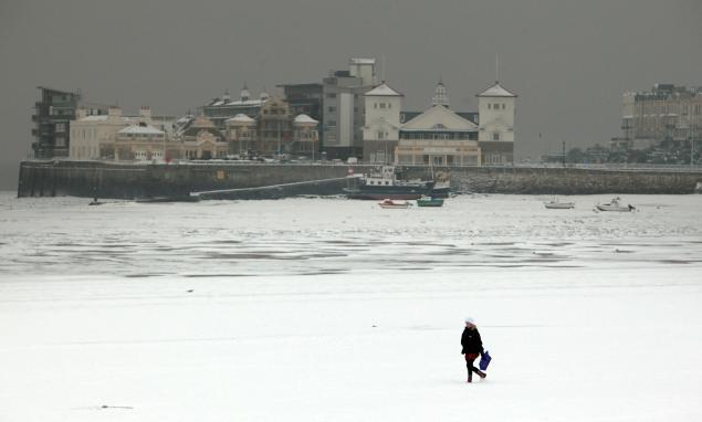 European plains buried by snow
