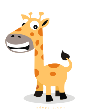 Download Cartoon Vector: Giraffe