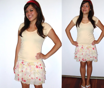floral tiered skirt. tiered floral mini-skirt