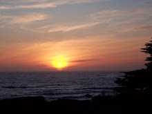 Sunset on Moonstone Beach