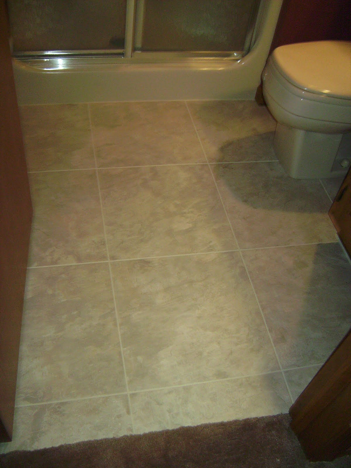 Knapp tile and flooring inc luxury vinyl tile bathroom for Carpet and vinyl flooring