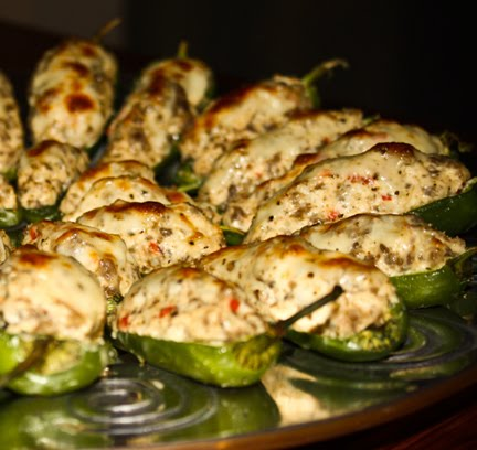 Inspire. Create. Bake.: Stuffed jalapeno peppers
