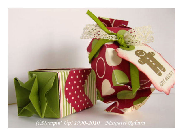 Fun stampin with margaret candy wrapper treat boxes for
