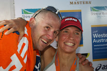 Doubly happy; Kristian goes sub 9 and I won. IMWA 2007