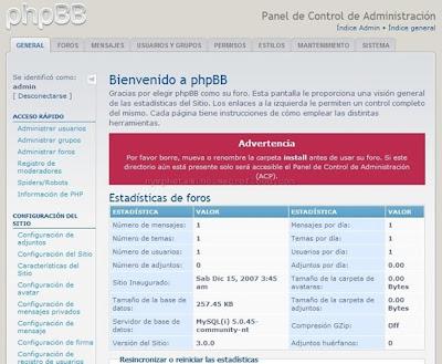 Crear un foro PHPBB3 Gratis 0910