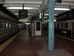 Vista de la estación Plaza de Mayo de la línea A