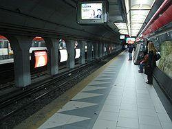 Vista de la estación Callao de la línea B