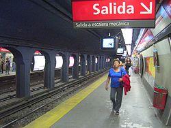 Vista de la estación Pueyrredón de la línea B