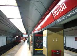 Vista de la estación Florida de la línea {{{linea}}}
