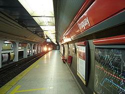 Vista de la estación Uruguay de la línea B