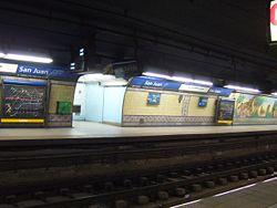 Vista de la estación San Juan de la línea C