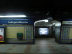 Vista de la estación Independencia de la línea C
