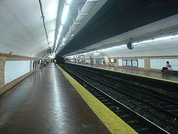 Vista de la estación Belgrano de la línea E