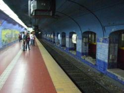 Vista de la estación Catedral de la línea {{{linea}}}