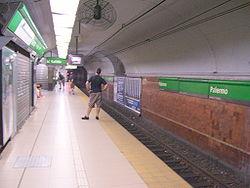 Vista de la estación Palermo de la línea D