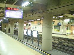 Vista de la estación Juramento de la línea D