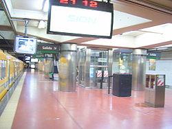 Vista de la estación Congreso de Tucumán de la línea D