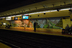 Vista de la estación Pichincha de la línea {{{linea}}}