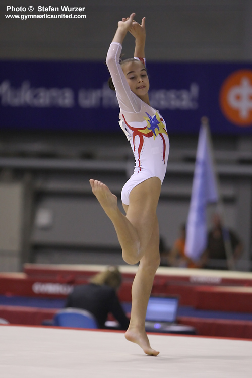 little miss raluca haidu who has proved herself a new star for romania
