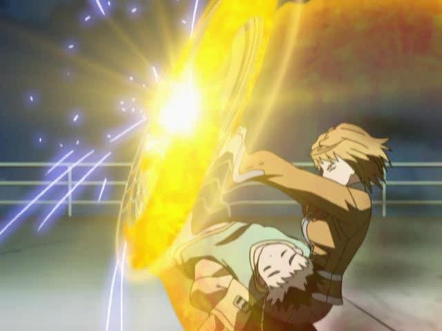 Mai protecting Mikoto