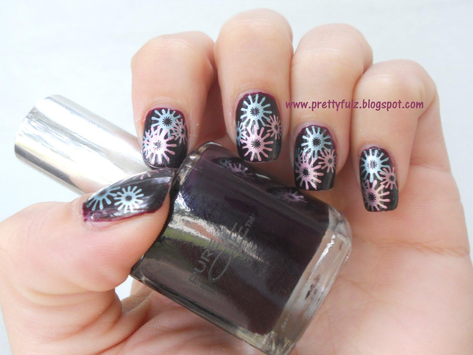 Prettyfulz Bundle Monster Nail Art Purple Nail Art