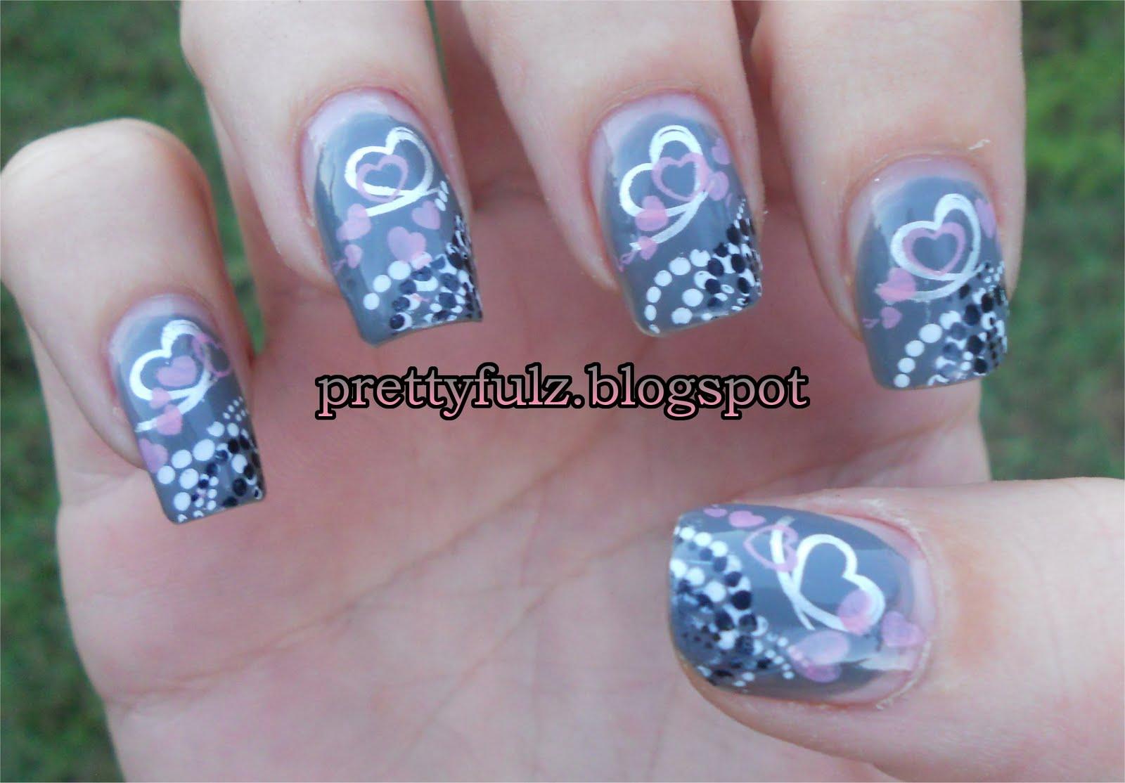 Prettyfulz: KONAD Nail Art | Heart Nail Art