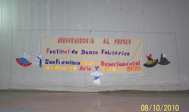 Altar elaborado por la Dirección Departamental de Educación de Morazán