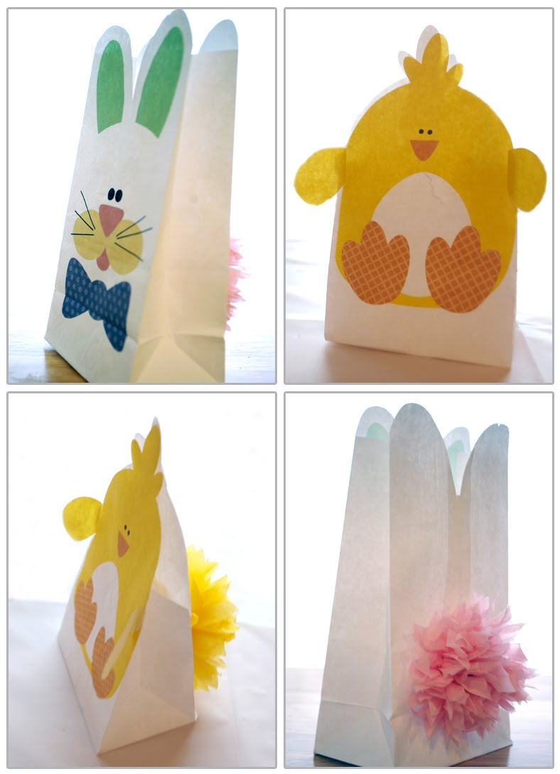 free paper bag easter bunny