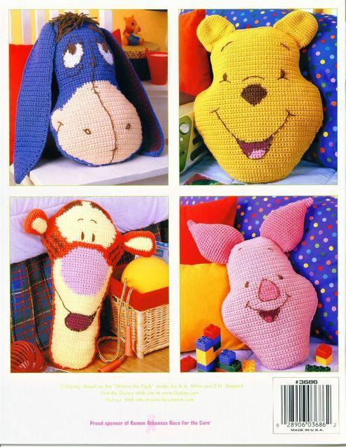 Patrones para tejer a crochet bonitas almohadas infantiles
