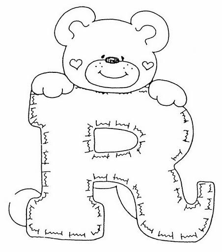 Moldes de letras (abecedario) en foami - Imagui