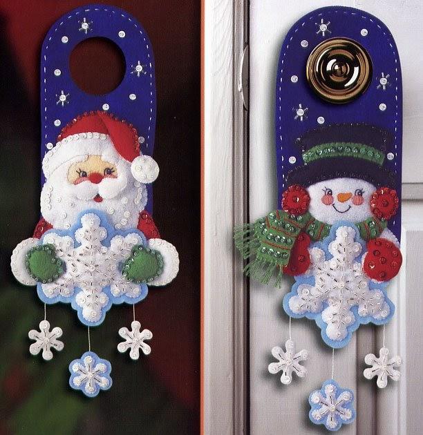 Manualidades navide as en fieltro 2010 picaportes navide os - Manualidades en fieltro para navidad ...