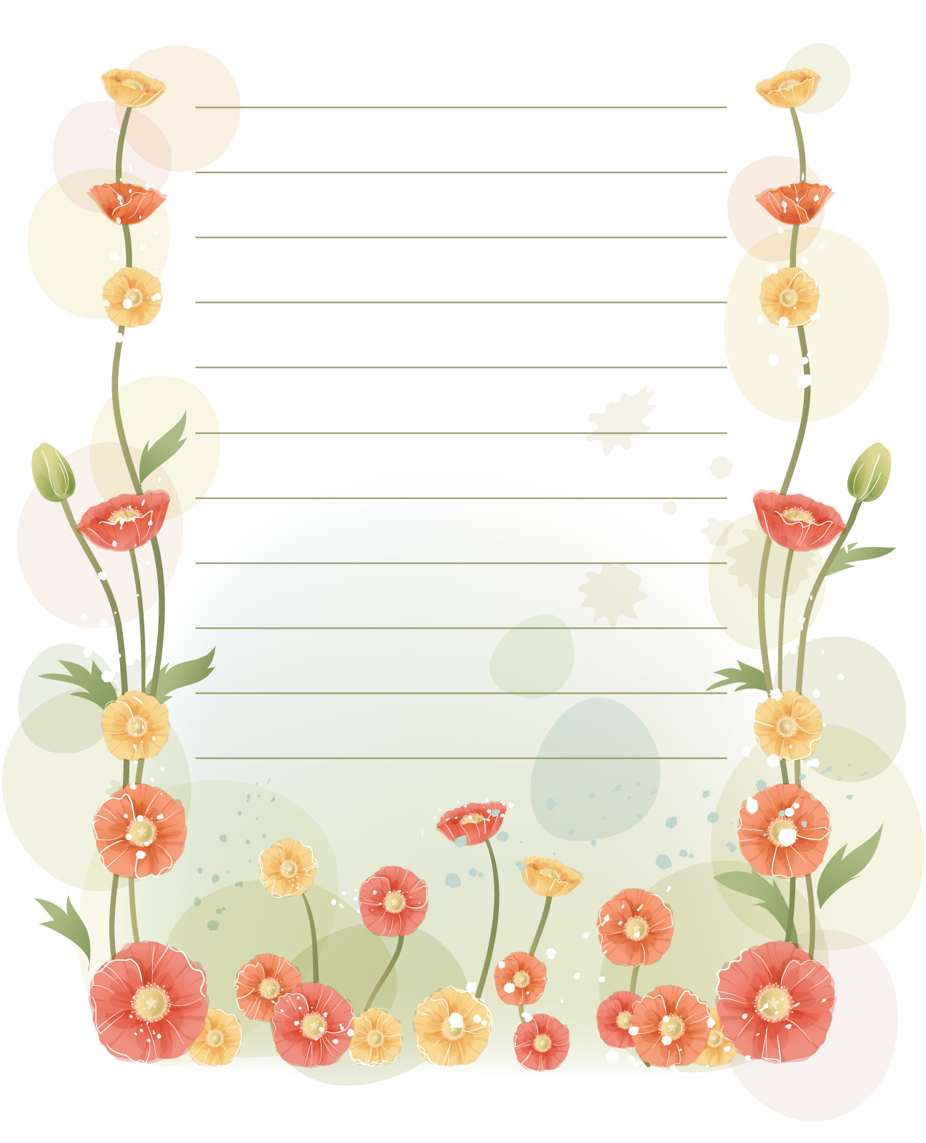 Plantillas para cartas for Decorar paginas