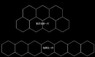 avec des hexagones