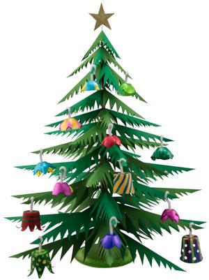 Como hacer un arbolito navideño de papel ~ Solountip.com