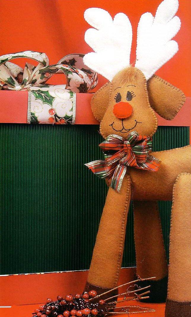 Haz un reno de fieltro para navidad - Renos de fieltro ...