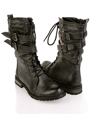 Black Fashion Mens Combat Boots | Steve Madden Troopah | Boots ...