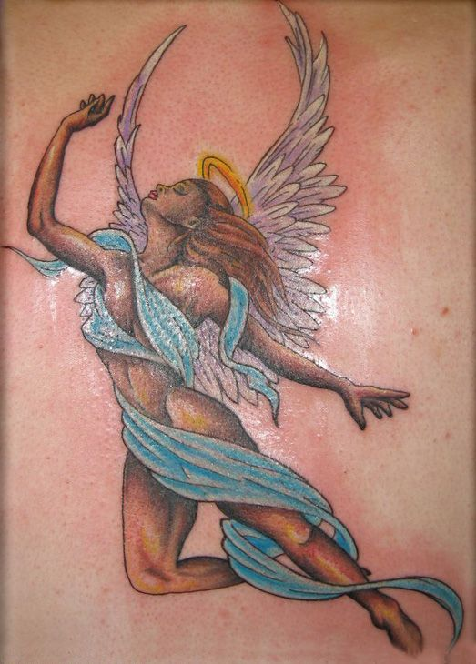 Women Angel Tattoo Designs