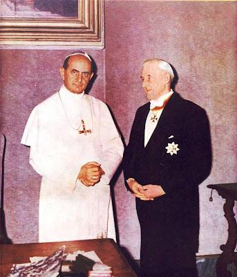 Фрэнк Дафф на встречи с Папой Римским Павлом VI