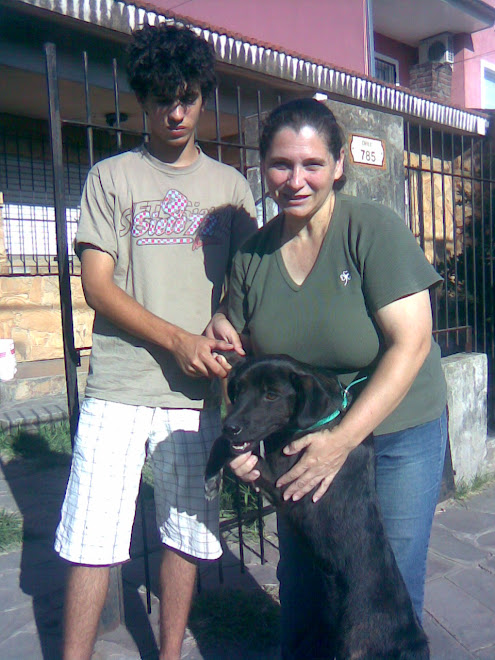 Pancho con su nueva familia
