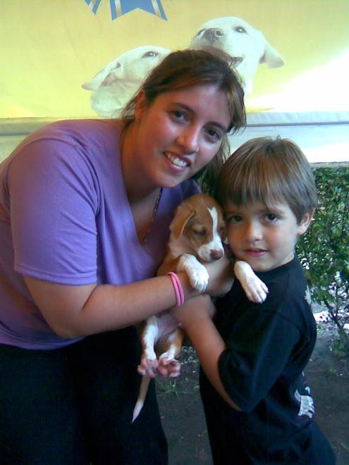 Cachorra de 60 dias adoptada