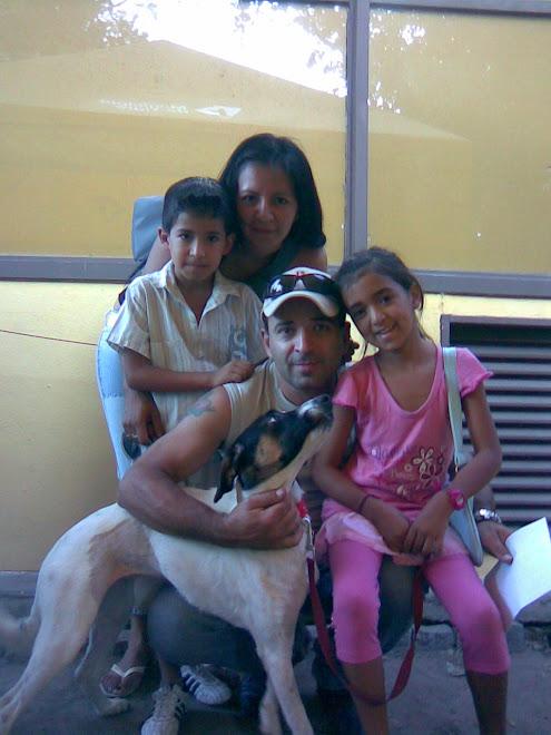 Vilma con su nueva familia