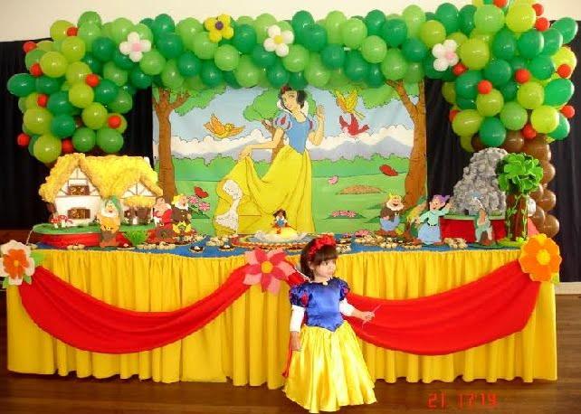 decoracao mesa branca:Decoração festas infantis: Festa da Branca de Neve