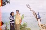Pemadangan di tepi Pantai Pangandaran