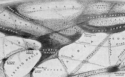 Map of Martian Canals from the Illustrated London News