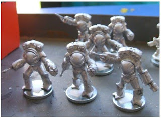 Khurasan Miniatures Orca Assault Troops - work in progress