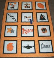 Custom Cheerleader Quilt